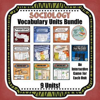 Sociology GROWING Vocabulary Units Bundle