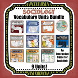 Sociology GROWING Vocabulary Units Bundle