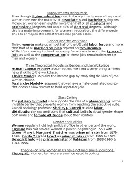 Sociology-Gender Stratification Completed Guided Notes