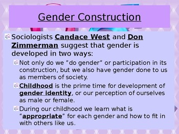 Sociology-Gender Stratification PowerPoint Presentation