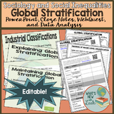 Sociology Global Stratification PowerPoint, Cloze Notes, a