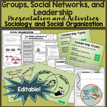 Sociology Groups, Social Networks, and Leadership Presentation and Activities