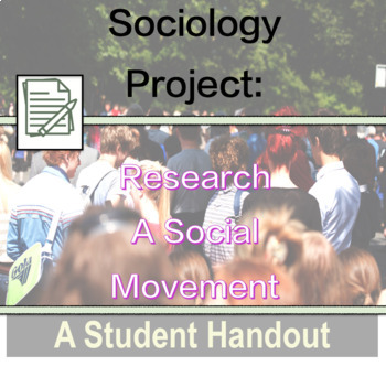 Sociology Handout - Research Project on Social Movement