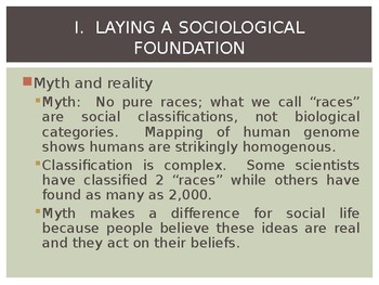 Sociology - Inequalities of Race and Ethnicity