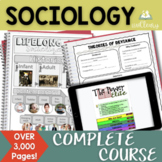 Sociology Interactive Notebook Complete Curriculum Mega Bundle