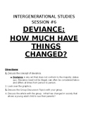 Sociology: Intergenerational Studies: Deviance How Much Things Changed