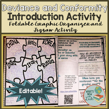 Sociology Introduction to Deviance and Conformity Activities