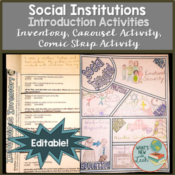 Sociology Introduction to Social Institutions Activity