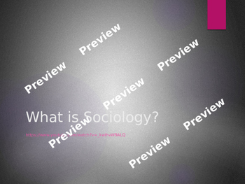 Sociology Overview