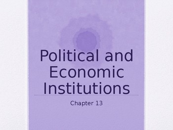 Sociology - Political and Economic Institutions