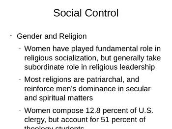 Sociology - Politics, Religion, and Health