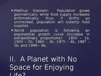 Sociology - Population and Urbanization