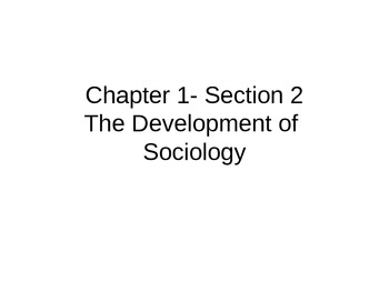 Sociology PowerPoint on the Development of Sociology