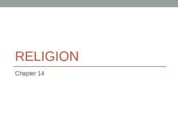 Sociology - Religion