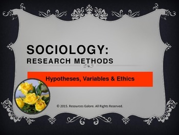 Sociology: Research Methods