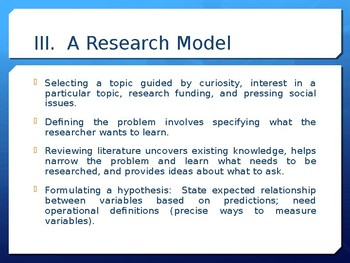 Sociology - Research Methods