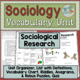 Sociology Research Vocabulary Unit