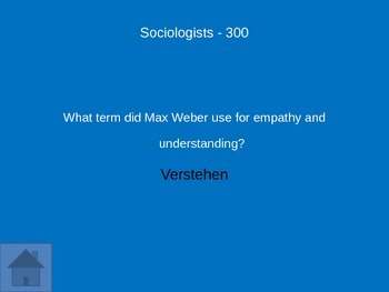 Sociology Review Game: Unit 1 Intro to Soc.