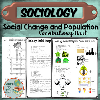Sociology Social Change and Population Vocabulary Unit