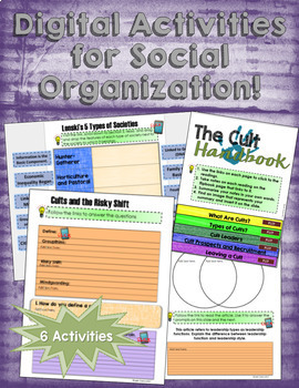Sociology Social Organization Activities for Google and OneDrive
