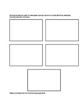 Sociology Social Structure: Groups withing Society Notes Template