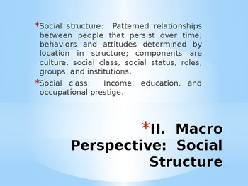 Sociology - Social Structure and Society
