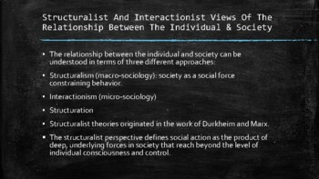 Sociology - Socialization And The Creation Of Social Identity