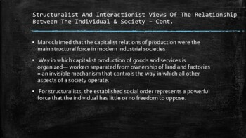 Sociology - Socialization And The Creation Of Social Identity - Chapter 2