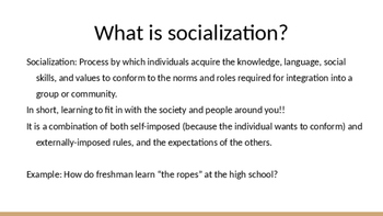 what is socialization in sociology