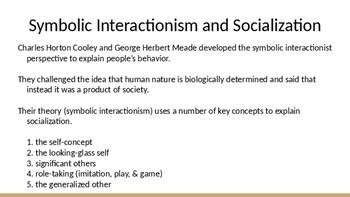 Sociology - Socialization and Symbolic Interaction