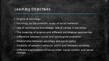 Sociology - Sociological Theorists - Comte, Marx, Weber, and Durkheim