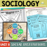 Sociology and Social Institutions Interactive Notebook Com