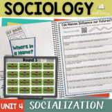 Sociology and Socialization Interactive Notebook Complete Unit Bundle