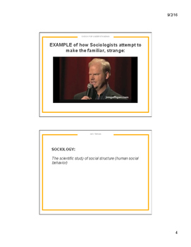 Sociology and You Powerpoint Notes
