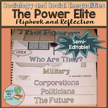Sociology and the Power Elite Flipbook and Reflection