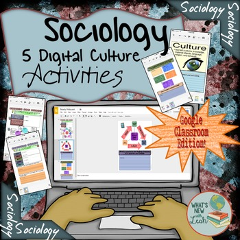 Sociology Activities For Culture Google Classroom and OneDrive