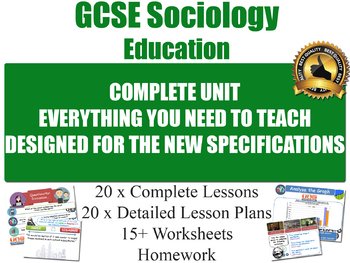 Sociology of Education (20 Lesson Unit)
