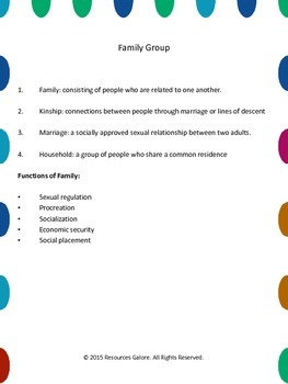 Sociology of Family: Family Structure