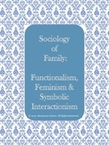 Sociology of Family: Functionalism, Feminism & Symbolic Interactionism