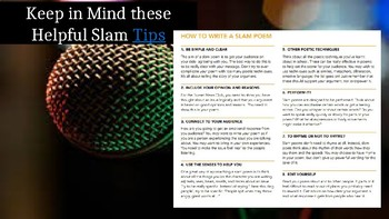 Vocabulary Slam Poetry with a Twist- Rubric Included!