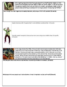 Sociology/Psychology- Collective Behaviors packet