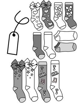 Sock Clip Art - Jojo Siwa-Inspired