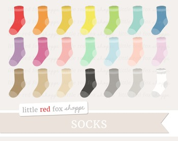 Sock Clipart; Stocking, Laundry, Clothes, Clothing
