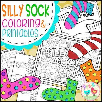 Sock Coloring Pages By Pre K Tweets Teachers Pay Teachers