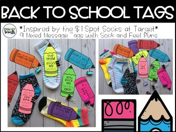 Sock Gift Tags - Back to School