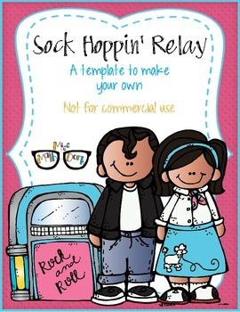 Sock Hoppin' 50's Relay template - Personal Use Only!