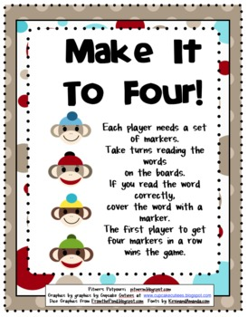 Sock It To Me Games for 1st 100 Fry Words