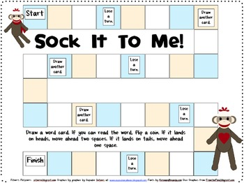 Sock It To Me Games for Fourth 100 Fry Words