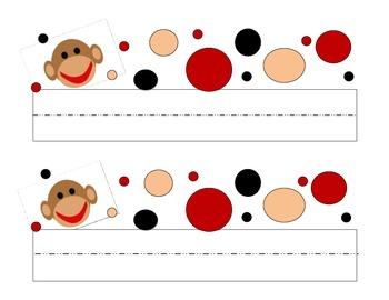 Sock Monkey Name Plate