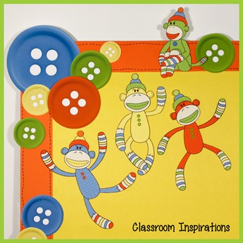 Sock Monkey Accents – Coordinates with Sock Monkey Classroom Theme